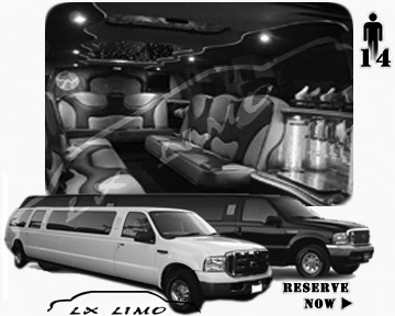 Lincoln Excursion SUV Limo for hire in Milwaukee, WI